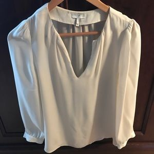 Joie 100% silk ivory blouse. Beautiful!
